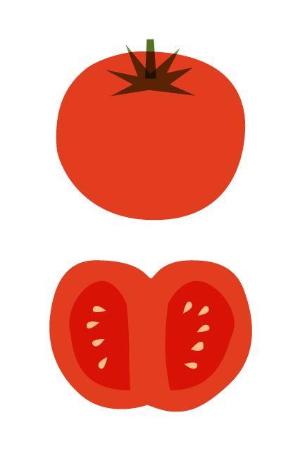 Ilustración de un tomate rojo o jitomate de Sydney Hass