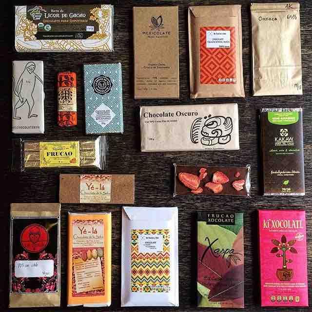 Variedad de tipos de chocolate en barra a la venta en la chocolatería Central Cacao de la colinia Roma